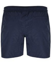 Barbour - Logo Swim Shorts Navy - Lyst