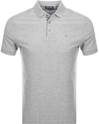 Aquascutum - Hillington Polo T Shirt Grey - Lyst