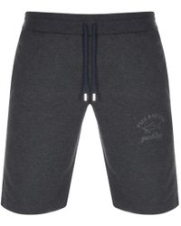 Paul & Shark - Paul And Shark Sweat Shorts Grey - Lyst