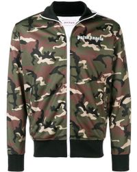 Palm Angels - Camouflage-print Zipped Jacket - Lyst