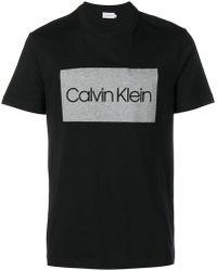 Calvin Klein - Logo Print T-shirt - Lyst