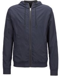 BOSS - Reversible Jacket With Drawstring Hood - Lyst