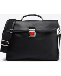 Maison Margiela - Calfskin Briefcase With Reflective Detail - Lyst