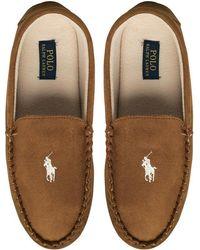 Ralph Lauren - Dezi Moccasin Slippers Snuff/khaki - Lyst