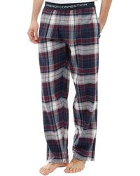 French Connection - Flannel Lounge Trousers Multi Chateaux - Lyst