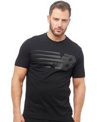New Balance - Logo Graphic T-shirt Black - Lyst