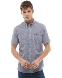 Ben Sherman - Gingham Short Sleeve Shirt Midnight - Lyst