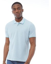7c2614386 Ben Sherman - Short Sleeve Tipped Pique Polo Sky Marl - Lyst