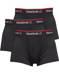 Reebok - Redgrave Performance Short Three Pack Trunks Black - Lyst