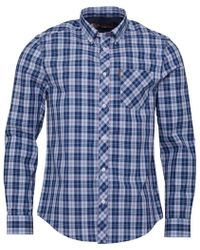 Ben Sherman - Long Tartan Check Shirt Light Blue - Lyst
