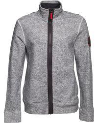 Bench - Funnel Zipper Structured Felpa Jacket Grey - Lyst