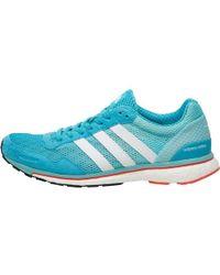 adidas - Adizero Adios Boost 3 Lightweight Neutral Running Shoes Energy Blue/white/easy Mint - Lyst
