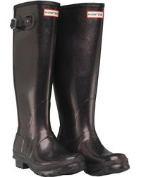 HUNTER - Original Starcloud Tall Wellington Boots Comet Orange - Lyst