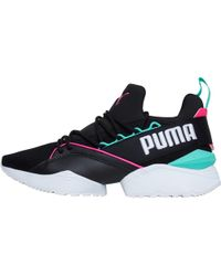 PUMA - Muse Maia Street 1 Trainers Black/knockout Pink - Lyst