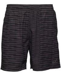 Asics - Fuzex Printed 7 Inch Running Shorts Dark Grey - Lyst