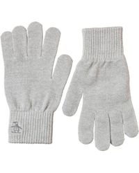 Original Penguin - Rib Gloves Light Grey - Lyst