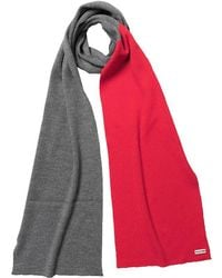 HUNTER - Original Merino Wool Scarf Slate/bright Coral - Lyst