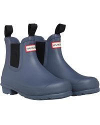 HUNTER - Original Chelsea Boots Mineral Blue - Lyst