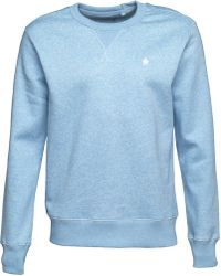 French Connection - Crew Neck Sweatshirt Sky Melange - Lyst