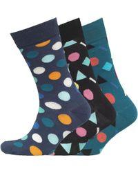 Happy Socks   Three Pack Shapes Patterned Socks Multi   Lyst