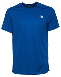 New Balance - Accelerate Running Top Team Royal - Lyst