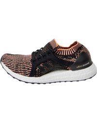 8fa880105 adidas - Ultraboost X Running Shoes Core Black easy Blue glow Orange - Lyst