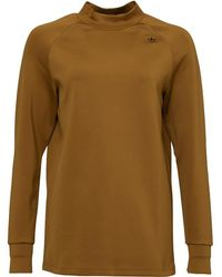 adidas Originals - X Hyke Mock Neck Sweat Craft Khaki - Lyst