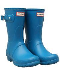 HUNTER - Original Short Wellington Boots Ocean Blue - Lyst