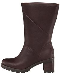 e869411dfe1 UGG Chancey Stout Leather Calf Biker Boots in Brown - Lyst