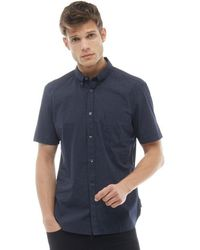 French Connection - Dot Short Sleeve Shirt Marine - Lyst