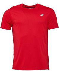 New Balance - Accelerate Running Top Team Red - Lyst
