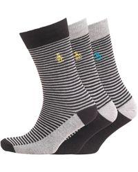 Original Penguin - Three Pack Socks Black - Lyst