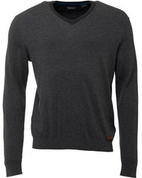 Timberland - Eastham V-neck Jumper Dark Grey - Lyst