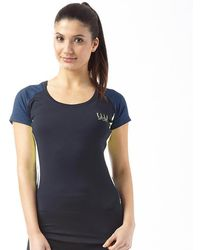 ELLE Sport - Marl Panelled Performance Training Top Blueberry Duo/blueberry/apple Sour - Lyst
