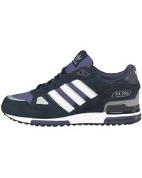 adidas Originals - Zx 750 Trainers New Navy/white - Lyst