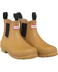 HUNTER - Original Chelsea Boots Burnt Sulphur - Lyst