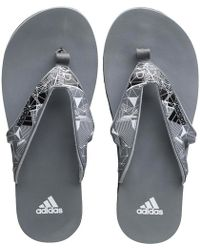 adidas - Calo 5 Graphic Flip Flops Core Black/white - Lyst