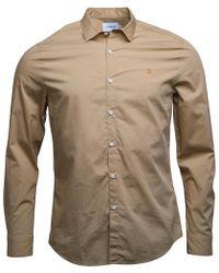 Farah - Thornlea Slim Fit Long Sleeve Shirt Light Sand - Lyst
