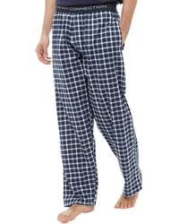 French Connection - Woven Lounge Trousers Marine/white - Lyst