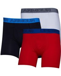 Under Armour - Charged Cotton Stretch Boxerjock Three Pack Boxers Black - Lyst