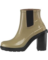 9c4829a13 HUNTER - Original Refined High Heel Chelsea Boots Sage - Lyst