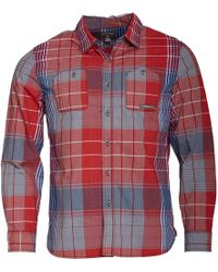 Converse - Utility Pocket Checked Long Sleeve Shirt Chilli Pepper - Lyst