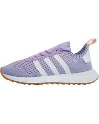 new style ad212 50b0b adidas Originals - Flashback Primeknit Trainers Purple Glowfootwear Whitetactile  Blue - Lyst