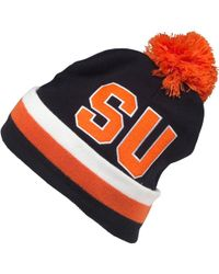Mitchell & Ness - Syracuse University Cuff Knit Bobble Hat Black - Lyst