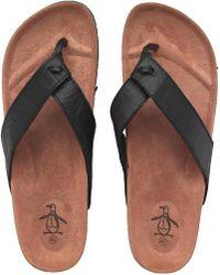 Original Penguin - Pine Sandals Black - Lyst