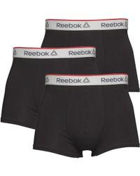 Reebok - Ovett Three Pack Short Trunks Black - Lyst