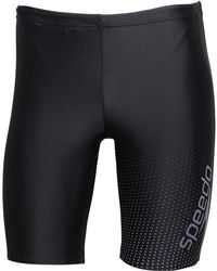 Speedo - Gala Logo Jammer Shorts Black/charcoal - Lyst