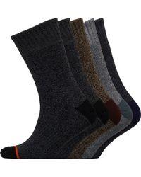 Weatherproof - Five Pack Thermal Crew Socks Assorted - Lyst
