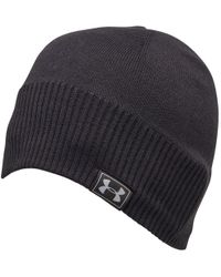 2ac813c20f9 Under Armour Coldgear Infrared Elements Storm 2.0 Beanie in Gray for ...