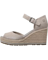 Timberland - Nice Coast Ankle Strap Wedge Sandals Simply Taupe - Lyst